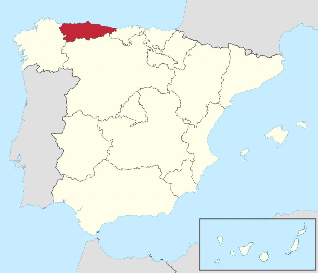 Situación geográfica de Asturias
